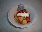 Strawberry Crisp with a dollop of Cool Whip